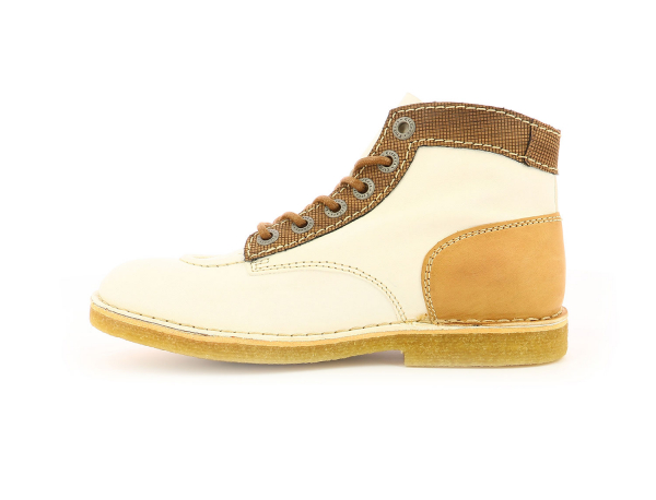 KICK LEGEND BLANC MARRON BEIGE