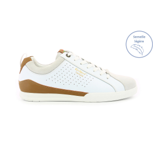 Kickers TAMPA BLANC  MARRON