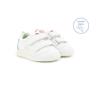 Kickers KICK 18 BB VLC WHITE  RED WHITE  GREEN