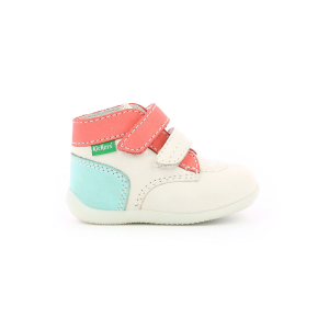 Kickers BONKRO WHITE PINK BLUE