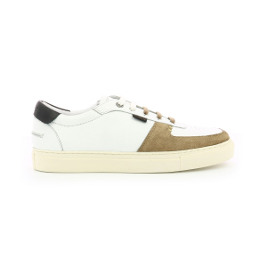 Kickers SNIKLAN WHITE BAIGE BLACK