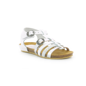 Kickers BOBBAN METALLISED WHITE