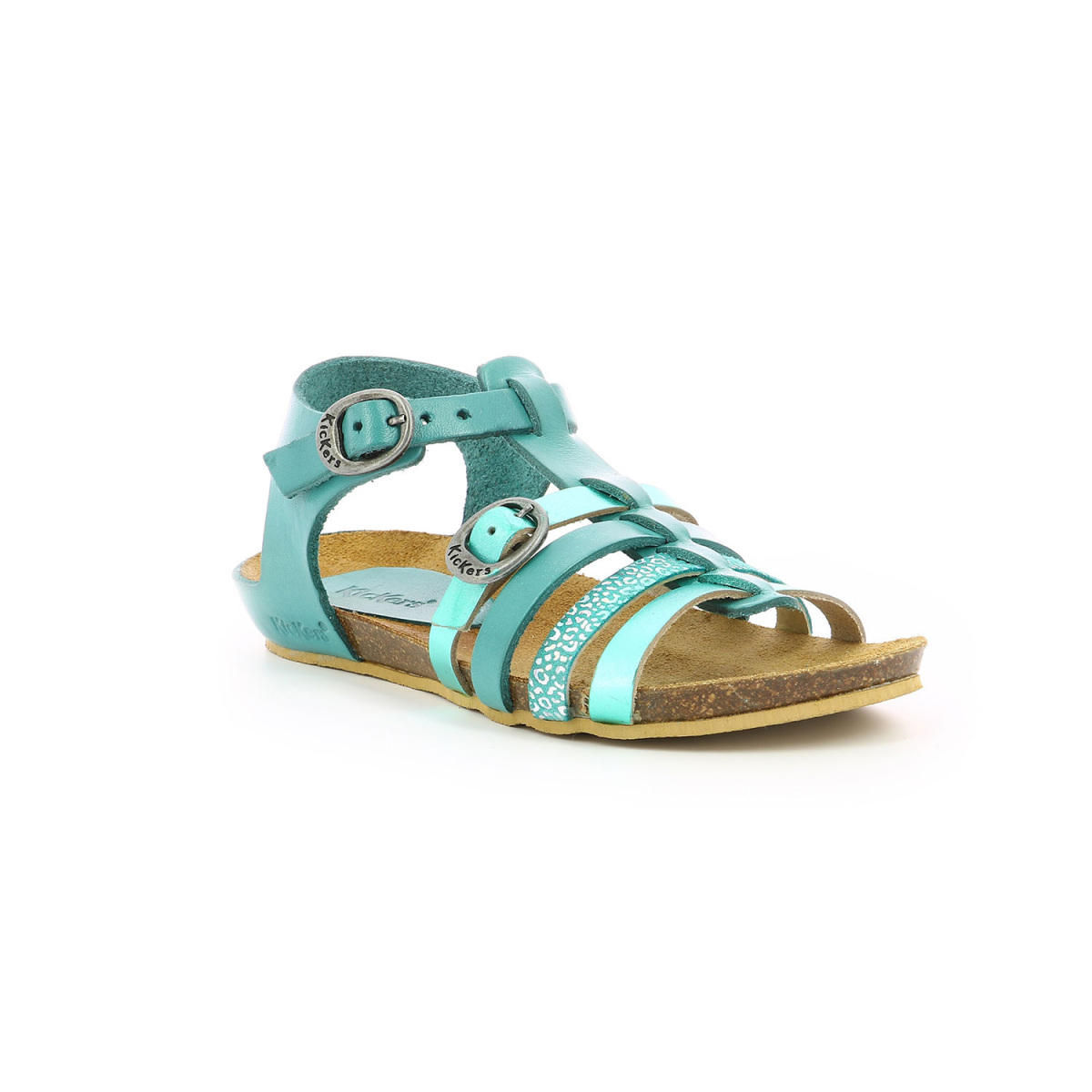 Kid's shoes BOBBAN METALLISED TURQUOISE Kickers