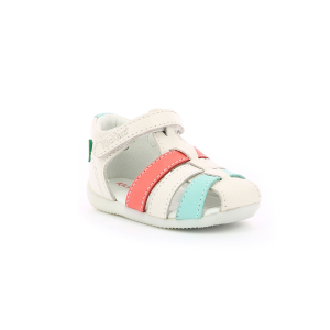 Kickers BIGFLO-2 WHITE PINK BLUE