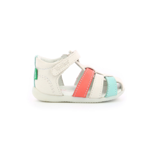 Kickers BIGFLO BLANC ROSE BLEU