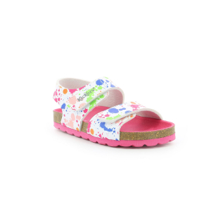 Kickers SUMMERKRO BLANC IMPRIME MULTICOLOR