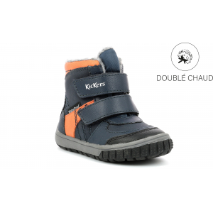 Kickers SITROUILLE WPF BLEU ORANGE