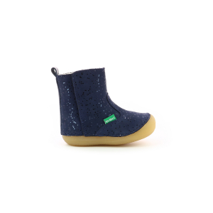 Kickers SOCOOL FOURRE MARINE METALLIQUE