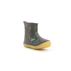 Kickers SOCOOL FOURRE GRIS METALLIQUE