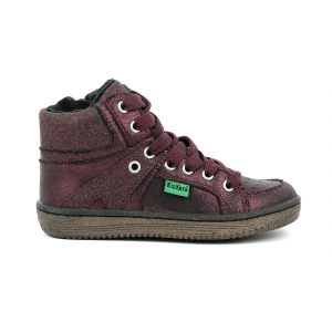 Kickers LOWELL BRIGHT BURGUNDY