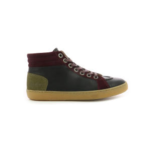 Kickers REBLOZ NOIR BORDEAUX KAKI