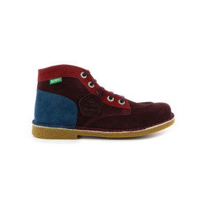 Kickers LEGENDIKNEW BORDEAUX ROUGE BLEU