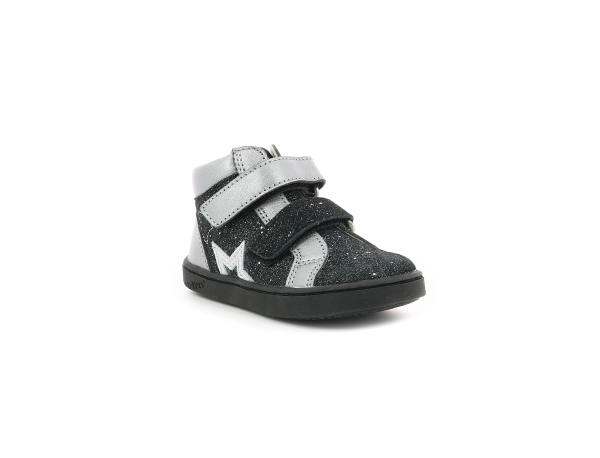 Kickers LILUKRO METALLISED BLACK SILVER