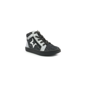 Kickers LILUSTAR METALLISED BLACK SILVER