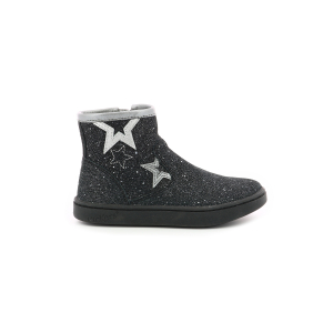 Kickers LYBOOSTAR METALLISED BLACK SILVER