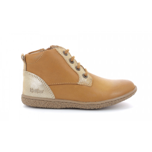 Kickers VETIGO METALLISED CAMEL GOLD