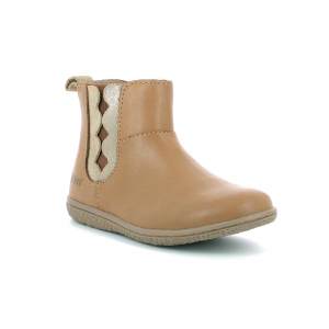 Kickers VETUDI CAMEL OR METALLISE