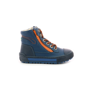 Kickers PIRLZIP BLEU MARINE ORANGE