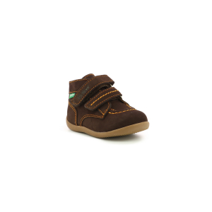 Kickers BONKRO-2 MARRON FONCE ORANGE