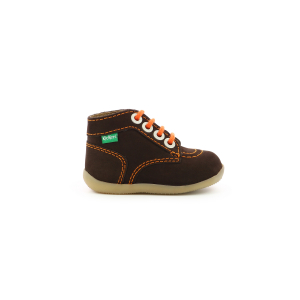 Kickers BONBON-2 MARRON FONCE ORANGE