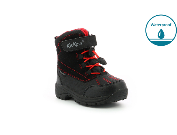 Kickers JUMP WPF NOIR ROUGE