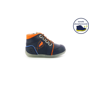 Kickers BINS BANG NAVY ORANGE