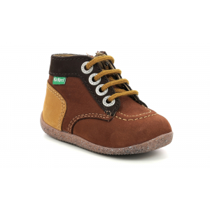 Kickers BONZIP-2 BROWN CAMEL TRICOLOR