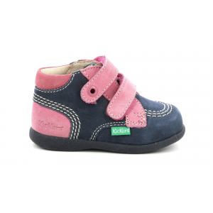 Kickers BABYSCRATCH MARINE ROSE TRICOLORE