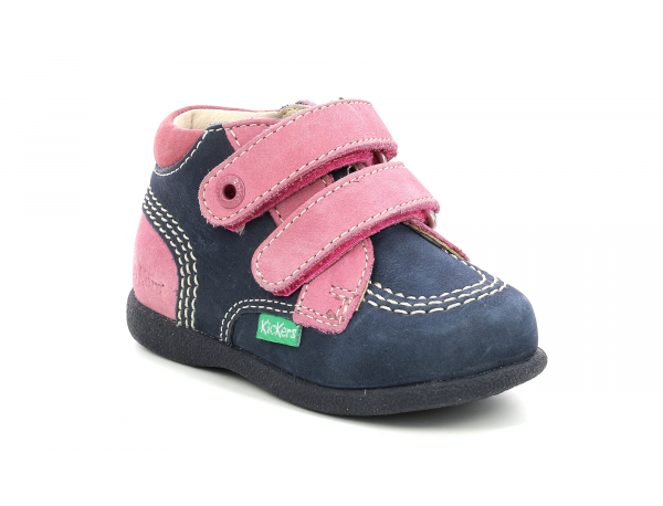 Kickers BABYSCRATCH NAVY PINK TRICOLOR