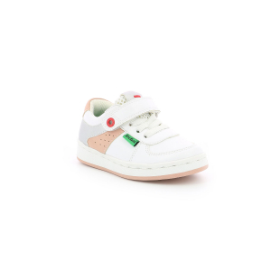 Kickers BILBON LOW BLANC  ROSE  ARGENT