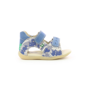 Kickers BOPING-2 BLUE CAMOUFLAGE
