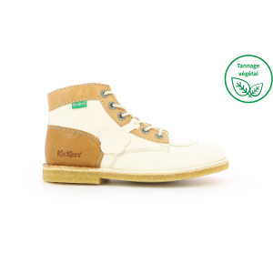 Kickers KICK LEGEND BLANC BEIGE MARRON FEMME