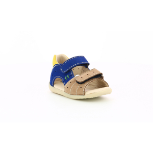 Kickers BOPING-2 BEIGE YELLOW NAVY