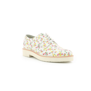 Kickers OXFORK WHITE PRINTED FLOWERS