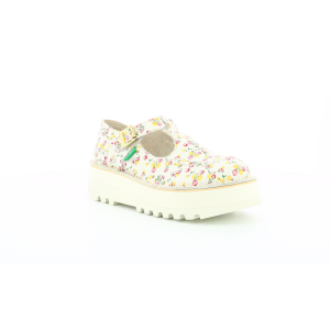 Kickers KICKOUSTRAP WHITE PRINTED FLOWERS