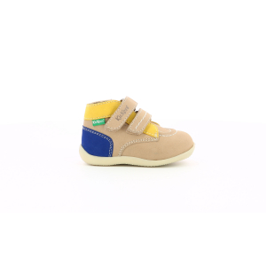 Kickers BONKRO-2 BEIGE YELLOW NAVY