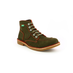 Kickers KICKSTONER KHAKI ORANGE THREAD