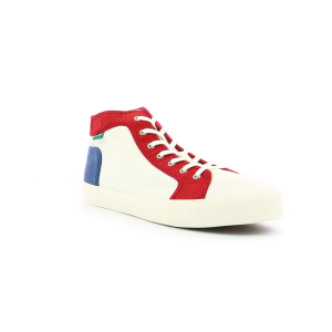 Kickers ARVEILER WHITE BLUE RED