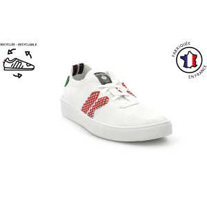Kickers KICKECTOR BLANC ROUGE HOMME