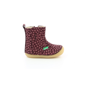 Kickers SOCOOL CHO BORDEAUX ROSE FLEURI