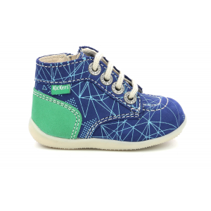 Kickers BONZIP-2 BLUE GREEN GALACTIC