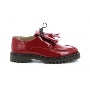 Kickers DECKLOW RED PATENT