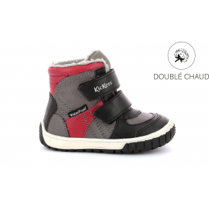Kickers SITROUILLE WPF GREY BLACK RED