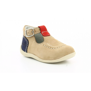Kickers BONBEK BEIGE RED NAVY