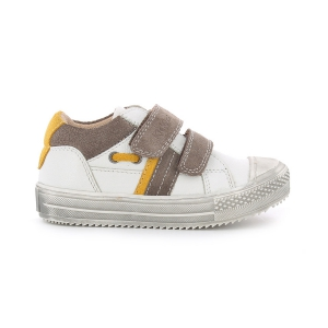 Kickers BARISTA WHITE BROWN YELLOW