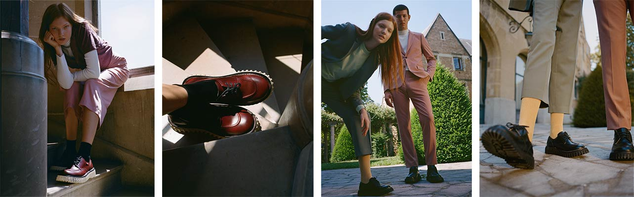 Collaboration of the shoe brands Adieu and Kickers for Creepers