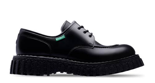 Black rockabilly men's shoes