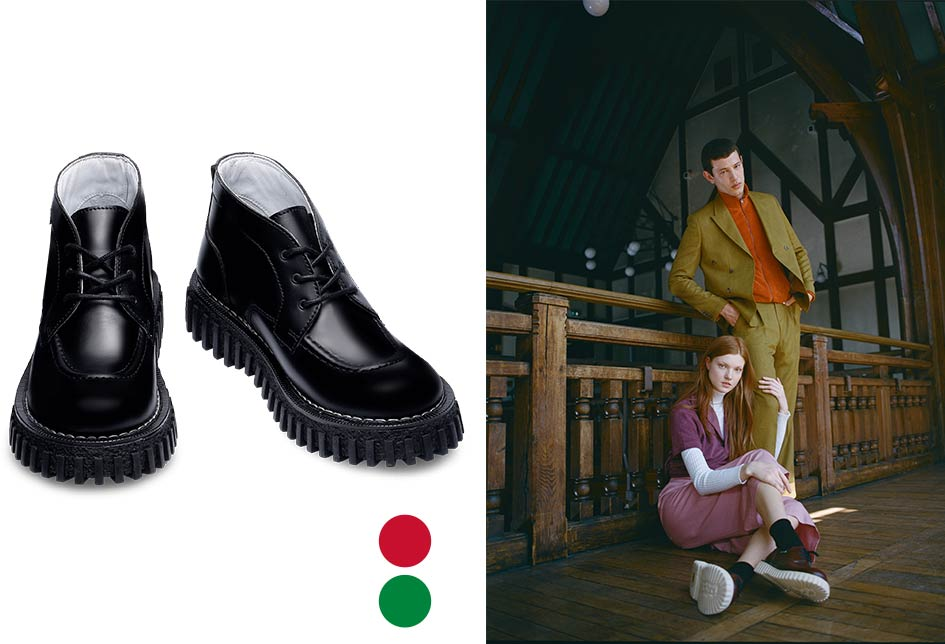 Kickers Shoes per la collaborazione con Adieu for Creepers