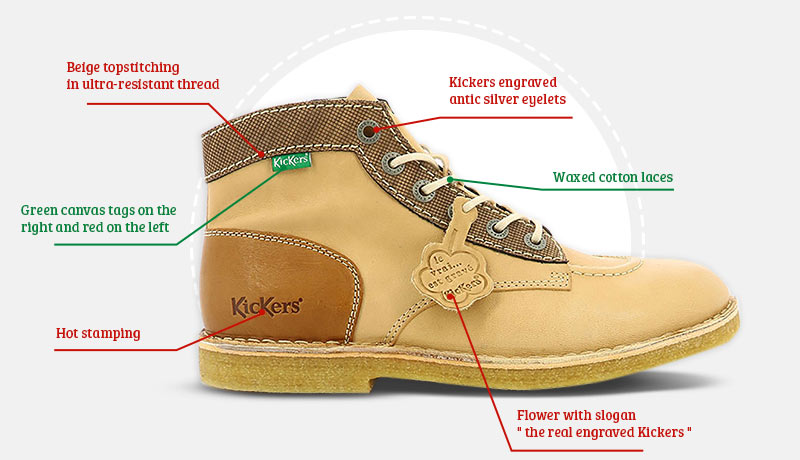 the authentic and iconic kicklegend of the Kickers shoe brand