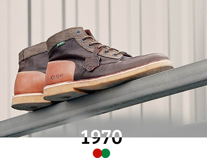 the vintage and iconic shoes of the kickers brand since 1970